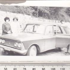 Bnk foto - Autoturism Moskvitch - anii `70 - Fotografie, Alb-Negru, Transporturi, Romania 1900 - 1950