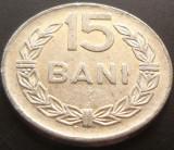 Moneda 15 Bani - ROMANIA, anul 1975 *cod 5025  Allu, Aluminiu