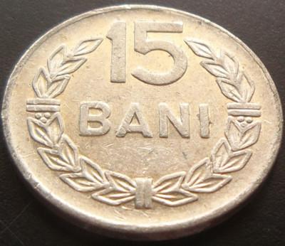 Moneda 15 Bani - ROMANIA, anul 1975 *cod 5025 Allu foto