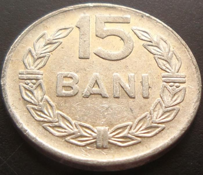 Moneda 15 Bani - ROMANIA, anul 1975 *cod 5025 Allu