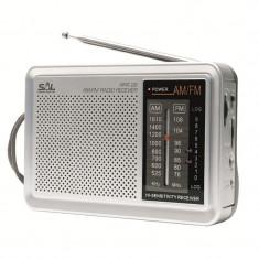 Radio portabil, AM/FM, semnal LED, consum redus, Sal