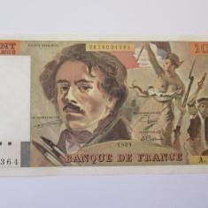 Franta 100 Francs/Franci 1989 in stare foarte buna