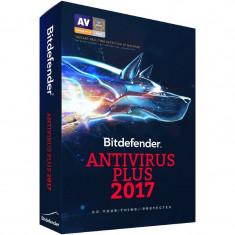 Securitate Bitdefender Antivirus Plus 2017, 3 PC, 1 an, New License, Retail
