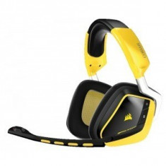Casti Gaming Corsair Void Wireless 7.1 RGB Lighting Special Edition Yellowjacket - Casca PC Corsair, Casti cu microfon