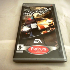 Joc NFS, Need for Speed Most Wanted 5-1-0, PSP, original! - Jocuri PSP Electronic Arts, Curse auto-moto, 12+, Single player