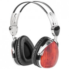 CASTI AUDIO KRUGER&MATZ (PALISANDRU), Casti Over Ear, Cu fir, Mufa 3, 5mm