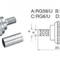 MUFA BNC RG58 TATA PENTRU SERTIZARE - Cablu retea
