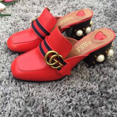 Saboti GUCCI - PRET PROMOTIONAL! - Sabot dama Gucci, Culoare: Rosu, Marime: 37
