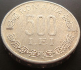 Moneda 500 Lei - ROMANIA, anul 1999 *cod 5028  Allu, Aluminiu