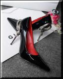 Pantofi GIANMARCO LORENZI - piele naturala - Super Promotie!, 36, Negru, Cu toc, Gianmarco Lorenzi