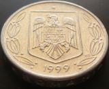 Moneda 500 Lei - ROMANIA, anul 1999 *cod 5027  Allu, Aluminiu