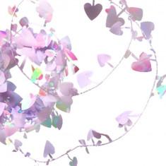 Ghirlanda decorativa cu inimioare albe iridescente, Amscan 22211.15, 1 buc
