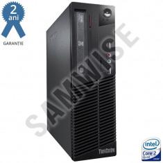 Lenovo M70E, Intel Core 2 Quad Q6600 2.4GHz, 2GB DDR3, 160GB, DVD GARANTIE 2 ANI - Sisteme desktop fara monitor Lenovo, 2001-2500 Mhz, 100-199 GB, LGA775