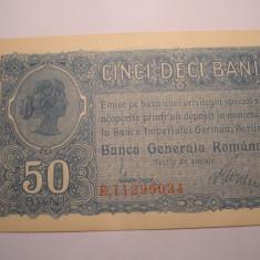 50 bani 1917 BGR AUNC UNC - Bancnota romaneasca