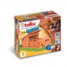 Set de constructie TEIFOC Din Caramizi - Grajd De Cai
