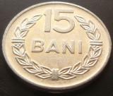 Moneda 15 Bani - ROMANIA, anul 1975 *cod 5023  Allu- Excelenta, Aluminiu