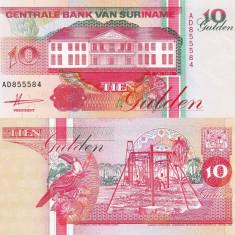 SURINAME 10 gulden 1991 UNC!!! - bancnota america