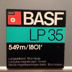 Banda Magnetofon BASF LP 35 + cutie - diametru rola 18 cm - stare F.Buna/RFG
