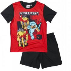Minecraft - Pijama - 6-12 ani !! Produs licentiat + Bratara CADOU !!, Marime: YXS, YS, YM, YL, Culoare: Din imagine, Unisex