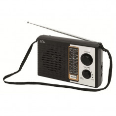 Radio portabil, 4 frecvente, tensiune 3.5V, negru, Sal