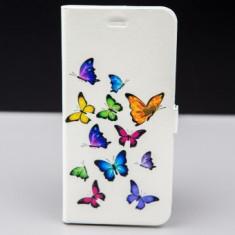 Husa FlipCover Stand Magnet Design Colour Butterflies Allview V2 Viper X, Plastic, Cu clapeta