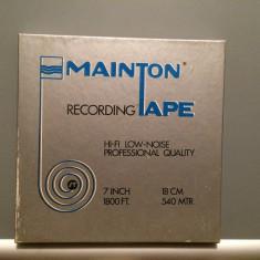 Banda Magnetofon EMI TAPE + cutie  - diametru rola 18 cm - stare F.Buna/England
