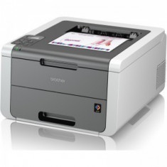 Imprimanta laser color Brother HL-3140CW, A4, 18 ppm, 2400 x 600 dpi, Wireless, (Alb)
