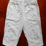 Pantaloni ¾ Nike; marime L: 63-88 cm talie elastica, 67 cm lungime etc.