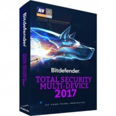 Bitdefender Total Security Multi-Device 2017, 3 device-uri, 1 an, New License, Retail - Antivirus