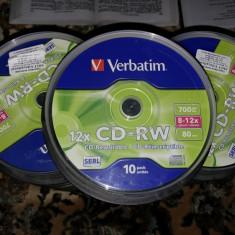 CD-RW Verbatim Cd uri caserola 10 buc Rescriibile 8-12X