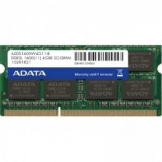 Memorie notebook ADATA Premier 4GB DDR3 1600MHz CL11 1.35v Retail - Memorie RAM laptop