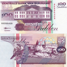SURINAME 100 gulden 1998 UNC!!! - bancnota america