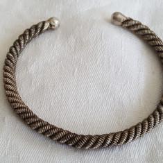 Bratara argint TRIBALA afghana reglabila VECHE executata manual VINTAGE masiva - Bijuterie veche