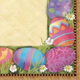 Servetele pentru masa de Paste - Easter Elegance, 25 x 25 cm, Amscan 509291, Set 16 buc