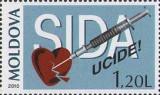 MOLDOVA 2010, SIDA, serie neuzata, MNH, Nestampilat