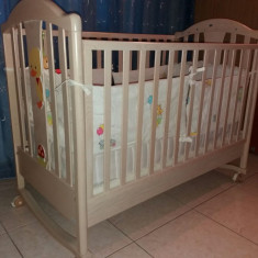 Patut Baby Italia - Patut lemn pentru bebelusi Baby-Italia, 200X90cm, Crem