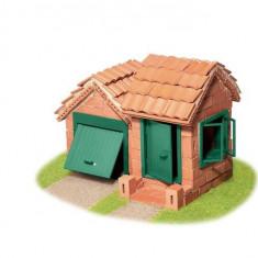 Set De Constructie Din Caramizi - Casa Cu Garaj - Teifoc