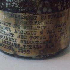 Vin Murfatlar Cabernet Sauvingon 1959 - Vinde Colectie, Aroma: Demi-sec, Sortiment: Rosu, Zona: Romania 1950 - 1970
