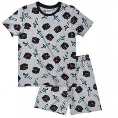 Minecraft - Pijama - 6 - 7 ani !! Produs licentiat + Bratara CADOU !!, Marime: YXS, Culoare: Din imagine