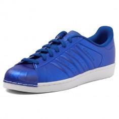 Adidas Superstar  -albastru  metalizat- garantie - BB4876