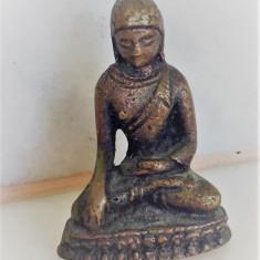 BUDDHA Miniatura Bronz 5 cm - Metal/Fonta, Statuete