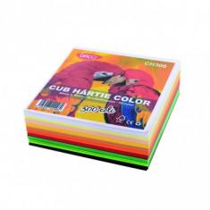 Cub hartie color 9x9 cm, 300 coli, 10 culori