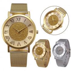 Ceas dama SPARKLE  NUDE bratara metalica ceas fashion GOLD sau silver