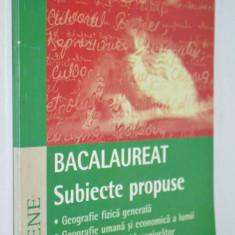 Bacalaureat - subiecte propuse Geografie - 2000 - Teste admitere facultate