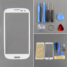 Sticla Display Fata Samsung Galaxy S3 i9300 ALB + kit scule + adeziv - Display LCD