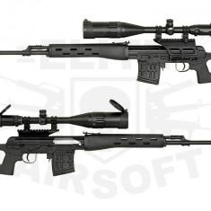 PUSCA Airsoft (foarte puternica)FUL METAL, armare la fiecare foc cu ARC - Arma Airsoft Cyber Gun