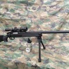 Pusca DE ASALT ~SNIPER Awp ~ METAL- airsoft Cu Aer Comprimat MANUALA - Arma Airsoft Cyber Gun