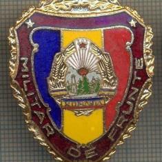 ZET 738 INSIGNA,, MILITAR DE FRUNTE