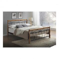 Pat SL Venetia 160x200 stejar - Pat dormitor