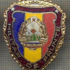 ZET 741 INSIGNA,, MILITAR DE FRUNTE
